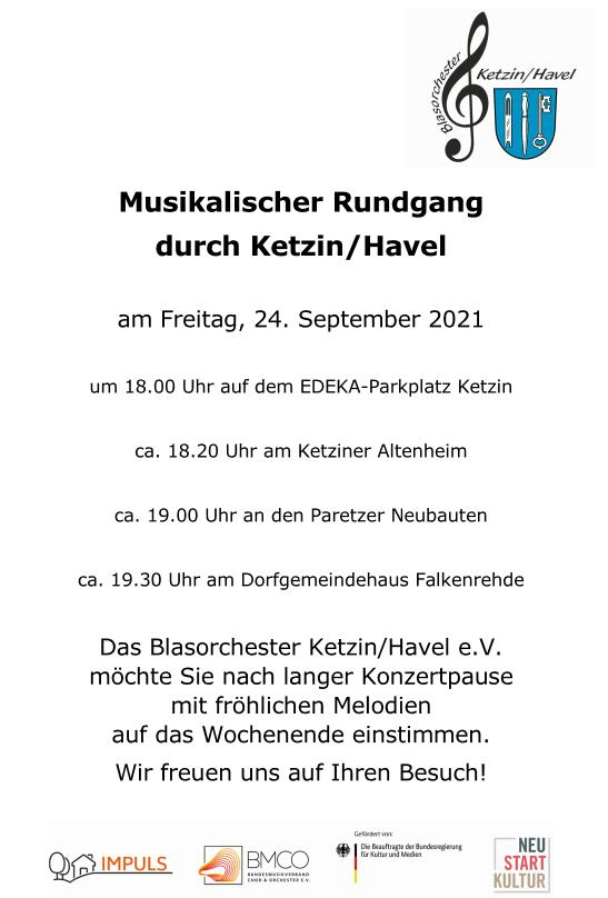 24.09.2021, 19:30 Uhr Dorfgemeinschaftshaus Falkenrehde