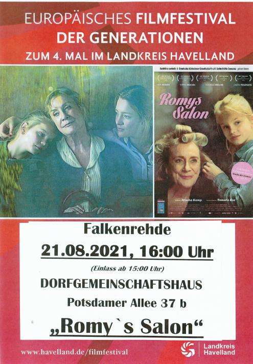 Europäisches Filmfestival der Generationen am 21.08.2021